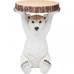 Table d'appoint ours polaire blanc BEAR
