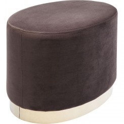 Pouf ovale marron et doré CHERRY ECLIPS