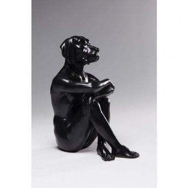 Figurine décorative noir Gangster Dog