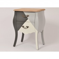 Table de chevet tricolore EVEREST