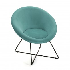 Fauteuil assise ronde tissu gris NARA