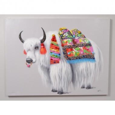 Tableau peinture Yak COLORE 120 x 90 cm