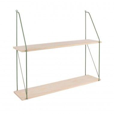Etagère 3 niveaux bois métal vert CHELSEA