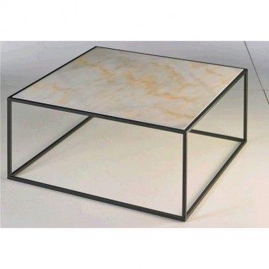 Table basse plateau carré marbre CYCLES