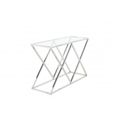 Console decor losange chrome IKONIC