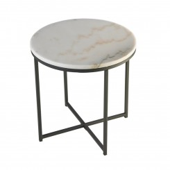 Table d'appoint plateau rond marbre REEF 60 cm