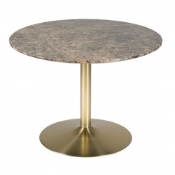 Table basse plateau marbre marron AURA