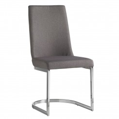 Chaise design grise et chrome ROUND