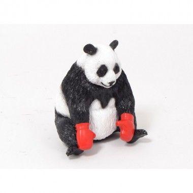Panda décoratif boxeur ROCKY 24 cm