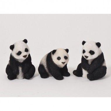 Set de 3 petit pandas 14 cm FAUNE