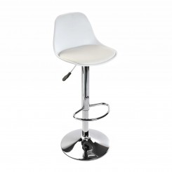 Tabouret de bar blanc et chrome SWINDON