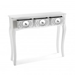 Console blanche 3 tiroirs miroirs INDRA