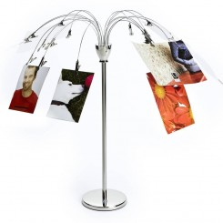 ARBRE PORTE PHOTOS DE TABLE DESIGN CHROME UMBRA