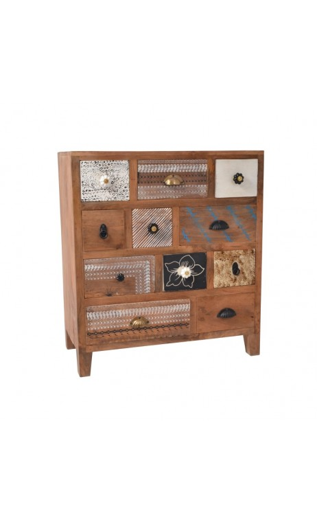 achetez votre commode 11 tiroirs multicolores toledo pas cher chez loft attitude. Black Bedroom Furniture Sets. Home Design Ideas