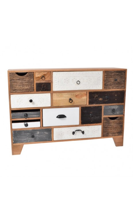 achetez votre commode 16 tiroirs multicolores toledo pas cher chez loft attitude. Black Bedroom Furniture Sets. Home Design Ideas