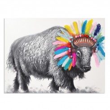 Tableau peinture Bison COLORE 120 x 90 cm