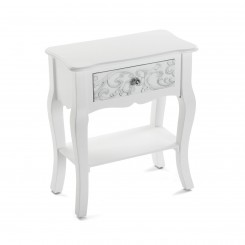 Table de chevet baroque blanche ANJALI