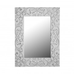 Miroir baroque blanc ornements INDRA