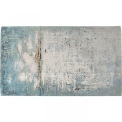 Tapis coton bleu et gris 300 x 200 cm ABSTRACT