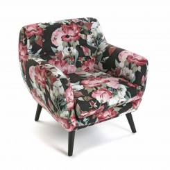 Fauteuil style club fleurs roses LIBERTY