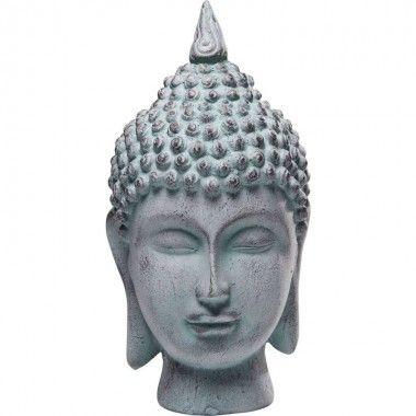 Statue tête et buste bouddha FLAMME 30 cm