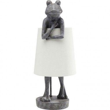 Lampe à poser grenouille gris béton FROG