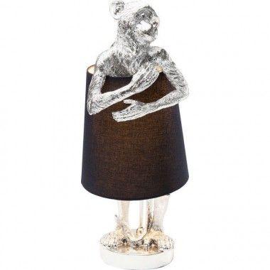 Lampe à poser singe argenté MONKEY