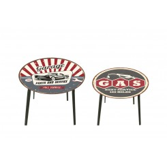 Lot de 2 tables d'appoints garage HARMONIE