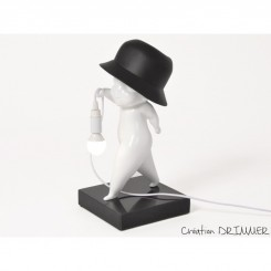 Lampe à poser personnage blanc PHARRELL