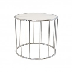 Table d'appoint céramique aspect marbre blanc SKYROS