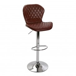 Tabouret de bar capitonné simili cuir marron LEATHER