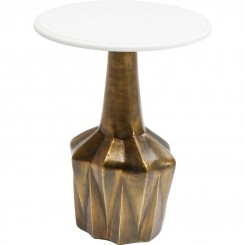 Table d'appoint plateau marbre blanc EDGE