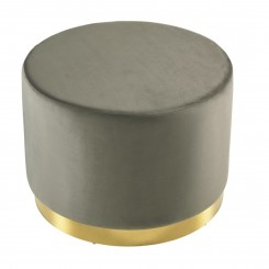 Tabouret effet daim gris et or DOT 45 cm