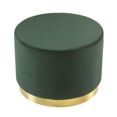Tabouret effet daim vert et or DOT 45 cm