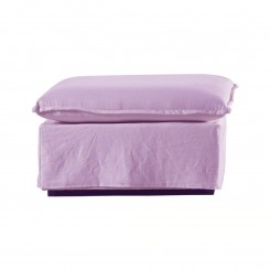 Pouf coussin tissu rose SLOW