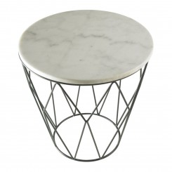 Table d'appoint marbre blanche et chrome WEB