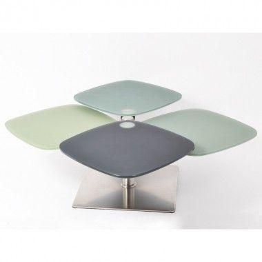 Table basse 4 plateaux modulables MONTANA