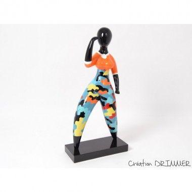 Statue miss camoufalge EMOTION 75 cm