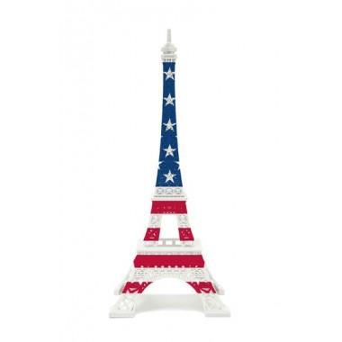 Tour Eiffel Merci Gustave drapeau USA