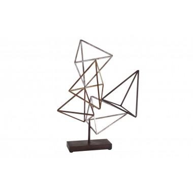 Sculpture pyramides 3D métal BEAUX ARTS