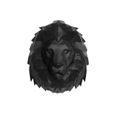 Tête de lion noir ORIGAMI