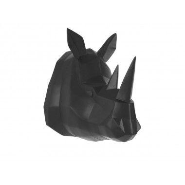 Tête de rhinocéros noir ORIGAMI