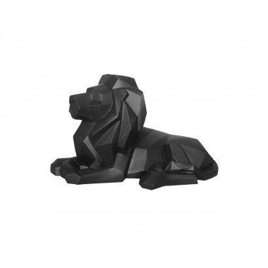Statue lion noir ORIGAMI