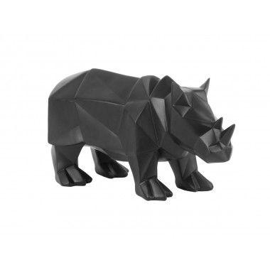 Statue rhinocéros noire ORIGAMI