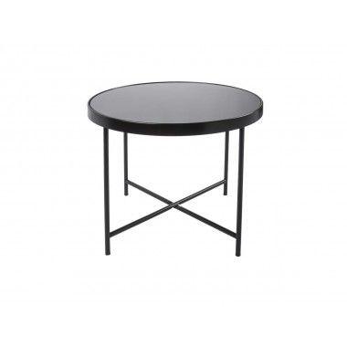 Table basse noir mat plateau en verre SMOOTH