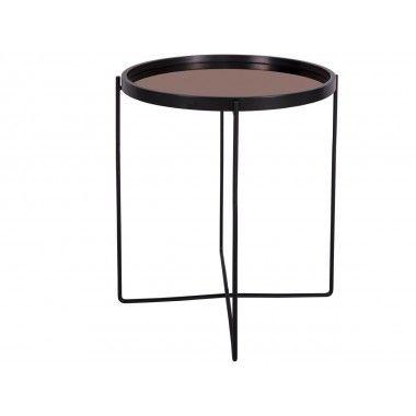 Table d'appoint plateau miroir cuivre POLISHED
