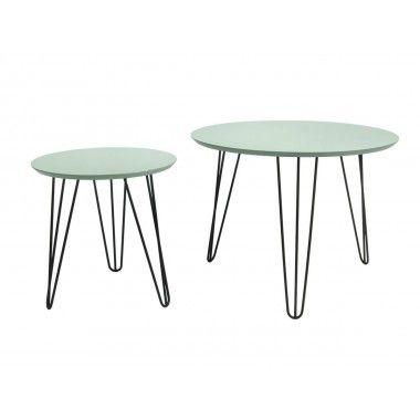 Set de table vert structure noir mat SPARKS
