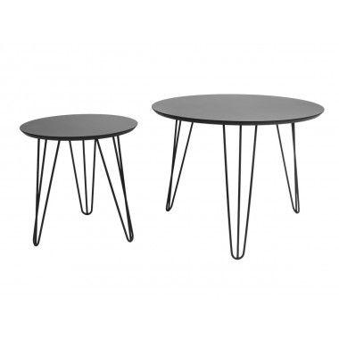 Set de table noir pieds noirs mat SPARKS