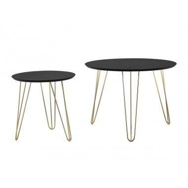 Set de table noir pieds dorés mat SPARKS