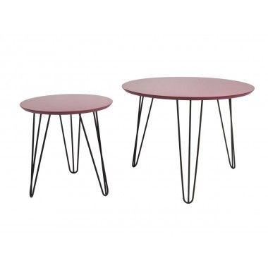 Set de table rose pieds noir mat SPARKS